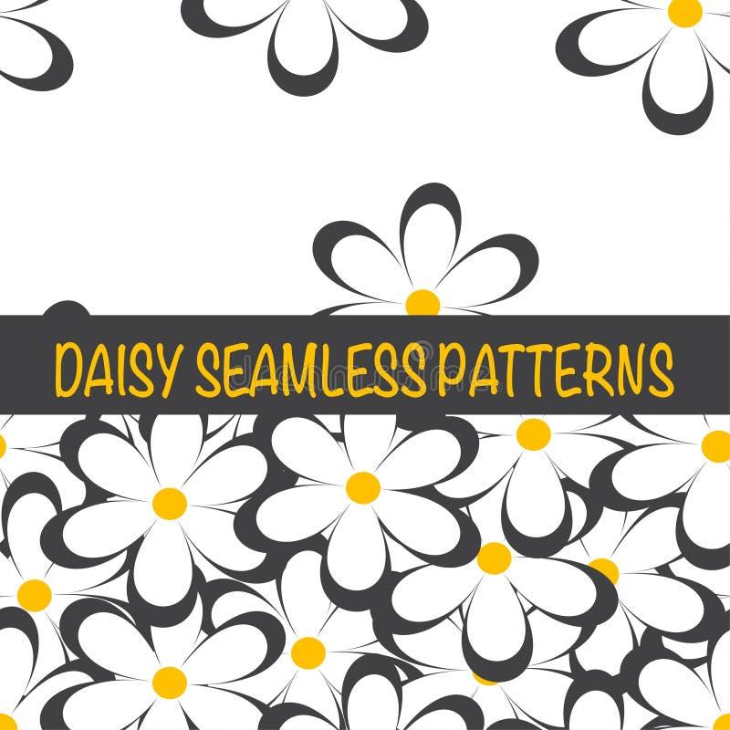 Sistema de modelos minimalistic ingenuos inconsútiles con las pequeñas flores libre illustration