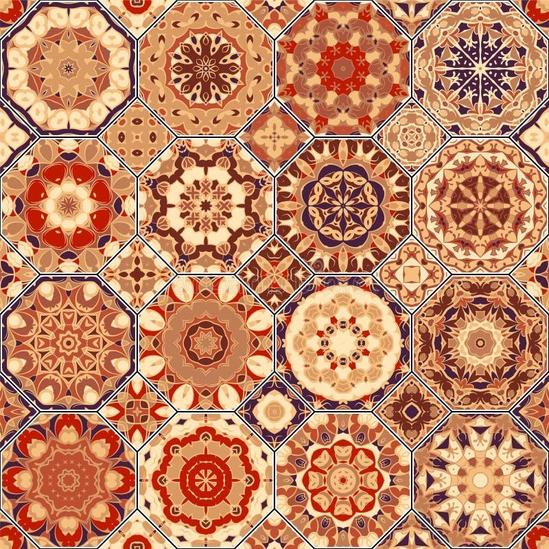 Sistema de modelos octagonales y cuadrados libre illustration