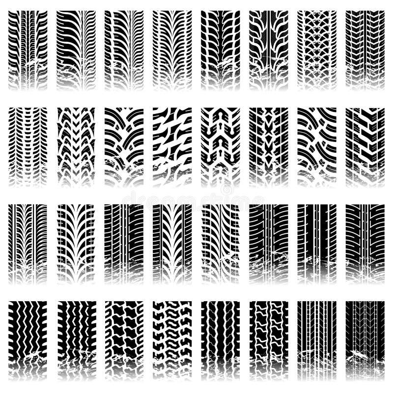 Sistema de modelos tileable de la pista del neumático stock de ilustración