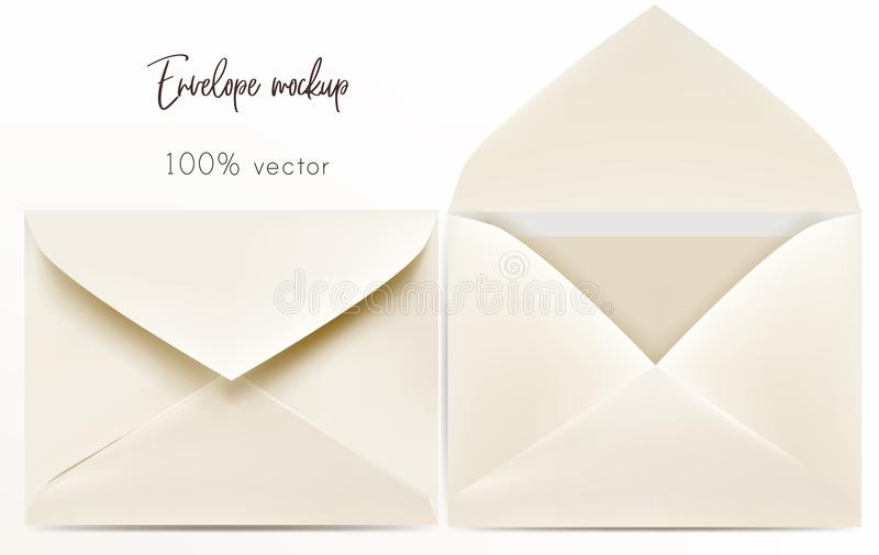 Sistema de mofa del sobre del vector para arriba stock de ilustración