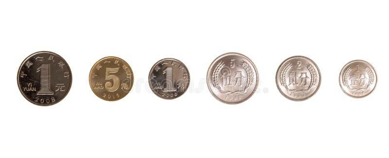 Sistema de monedas chinas fotos de archivo