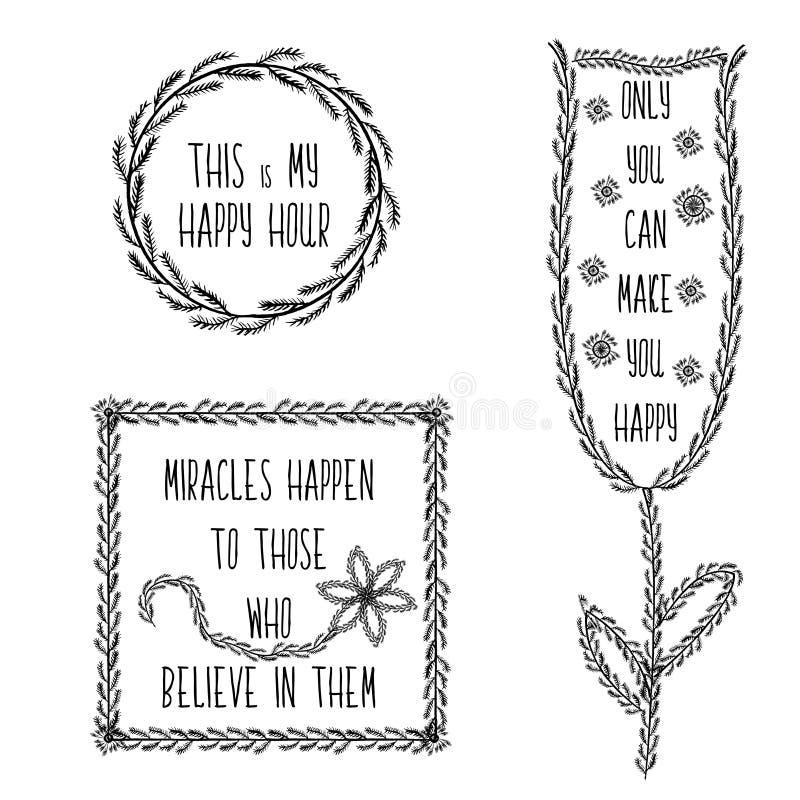 Download Sistema De Motivación De Los Carteles Del Dibujo De La Mano Para  Alcanzar Las Frases
