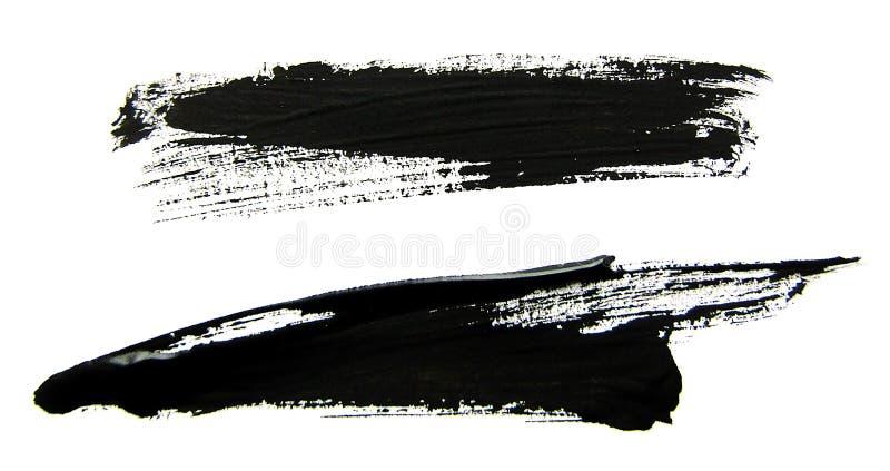 Sistema de movimientos negros del cepillo del aguazo libre illustration