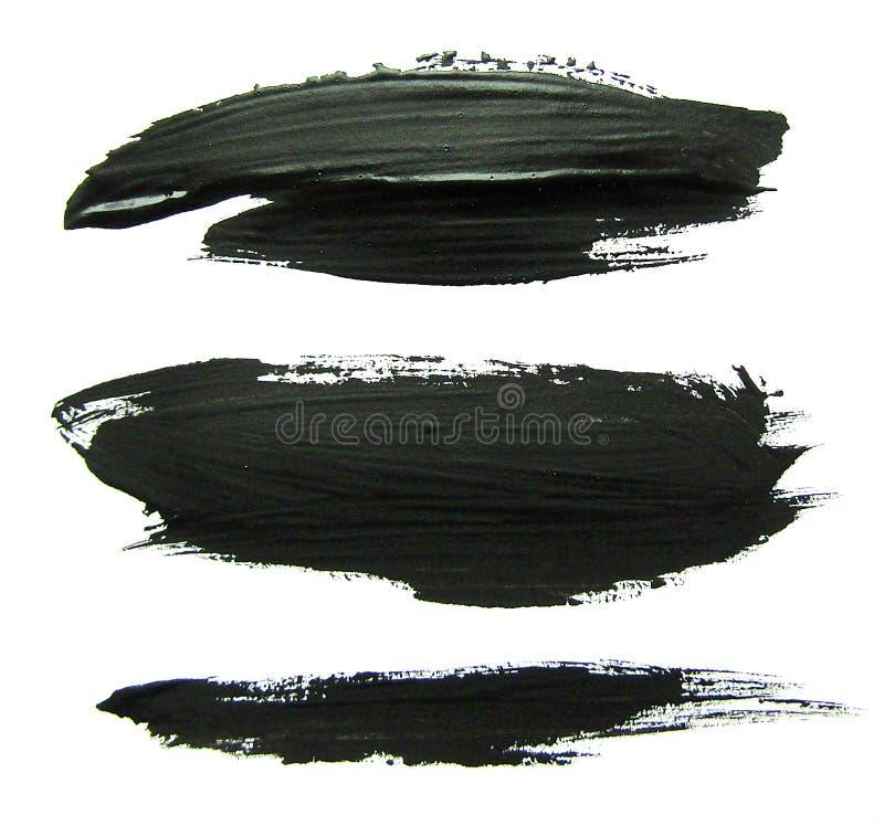 Sistema de movimientos negros del cepillo del aguazo ilustración del vector