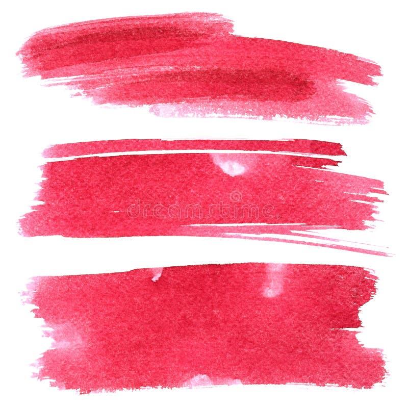 Sistema de movimientos rojos del cepillo imagen de archivo