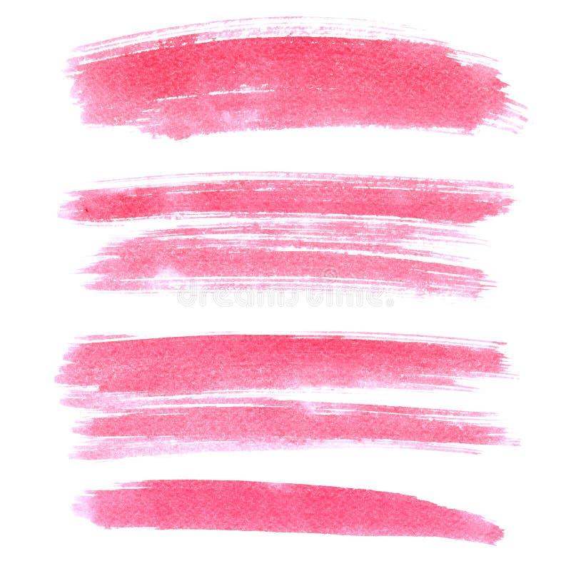 Sistema de movimientos rosados del cepillo libre illustration