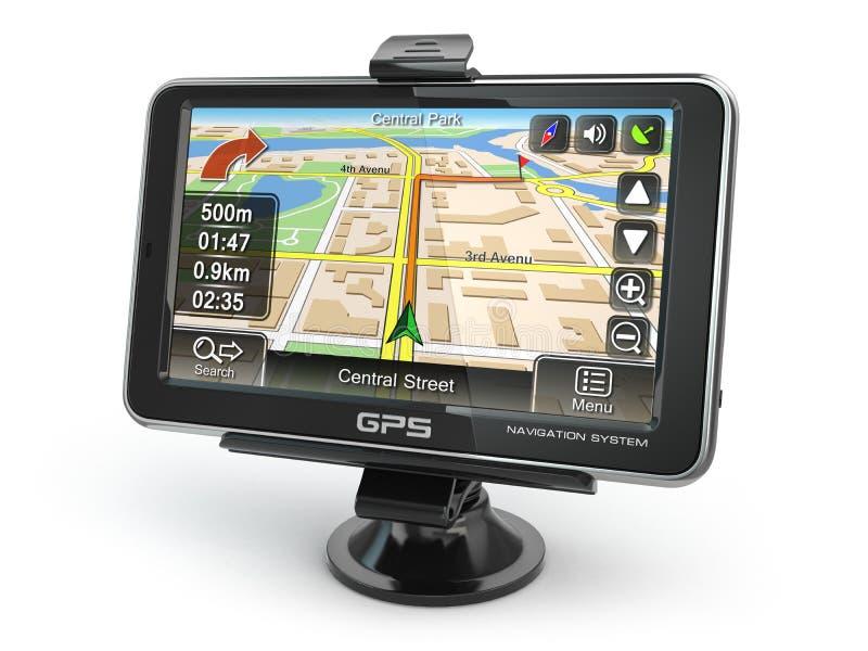 Sistema de navegação de GPS ilustração royalty free