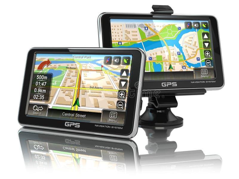 Sistema de navegação de GPS ilustração stock