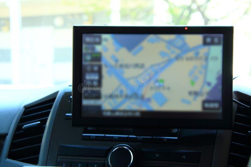 Sistema de navegación del coche imagen de archivo libre de regalías