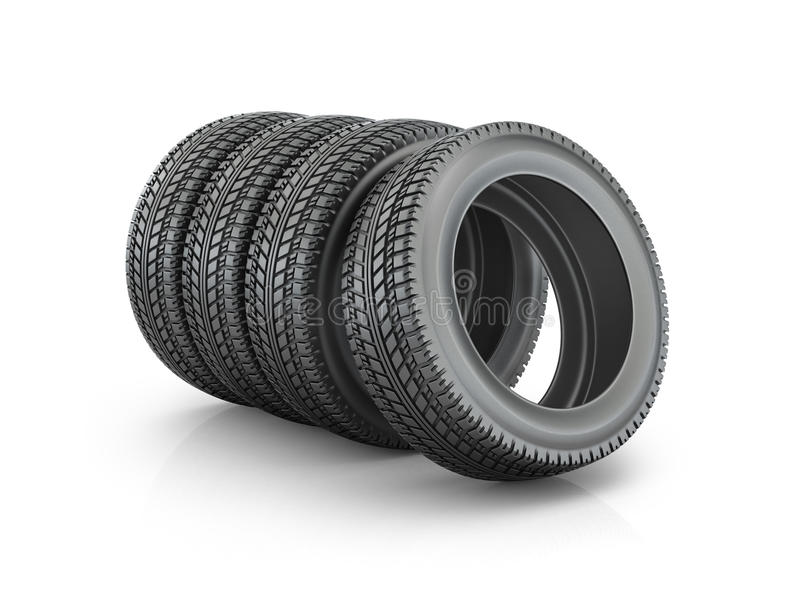 Sistema de neumáticos, stock de ilustración