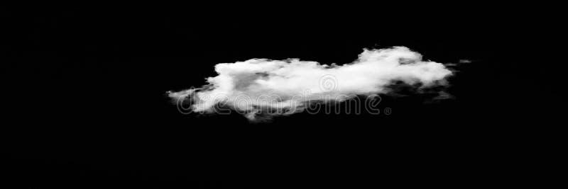 Sistema de nubes sobre fondo negro Elementos del diseño Nubes aisladas blanco Nubes extraídas recorte imagen de archivo libre de regalías
