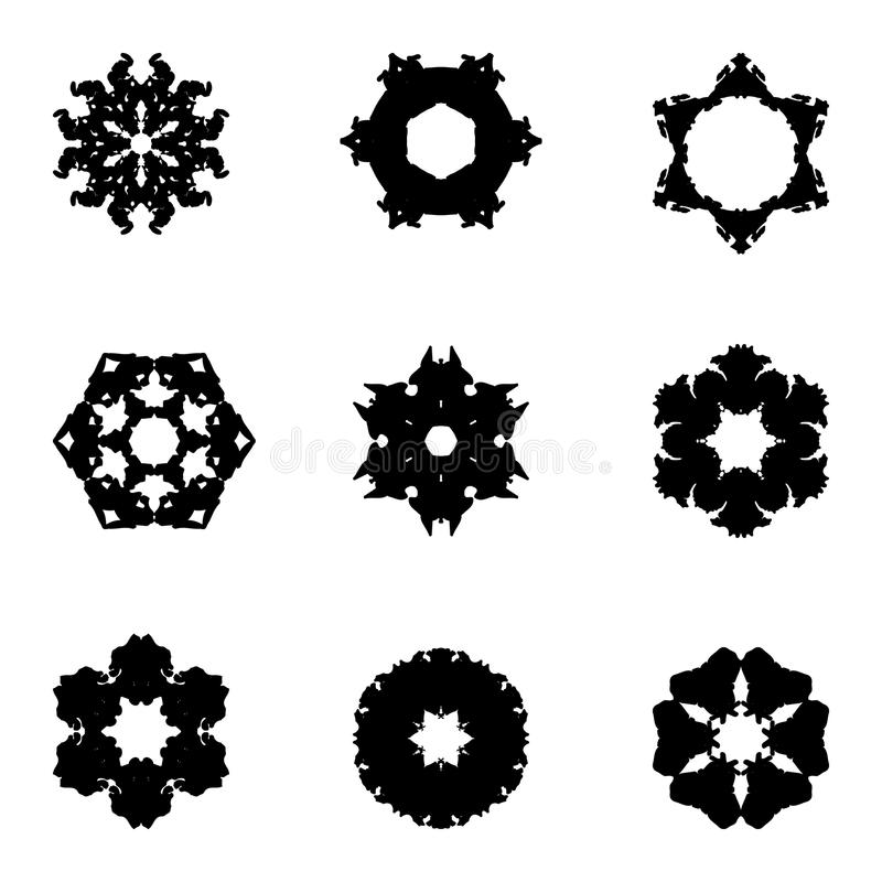 Sistema de nueve elementos del drenaje de la mano para el diseño libre illustration