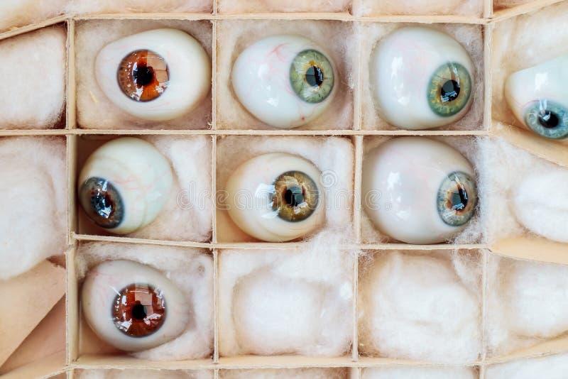 Sistema de ojos artificiales del vintage fotos de archivo libres de regalías