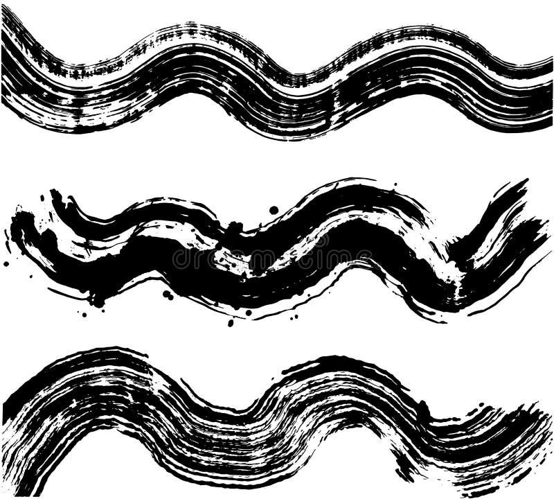 Sistema de ondas del mar ilustración del vector