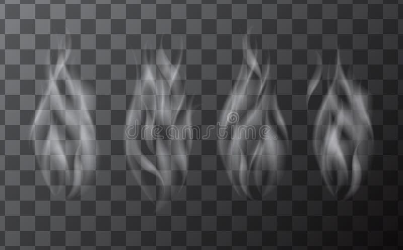 Sistema de ondas realistas delicadas del humo del cigarrillo libre illustration