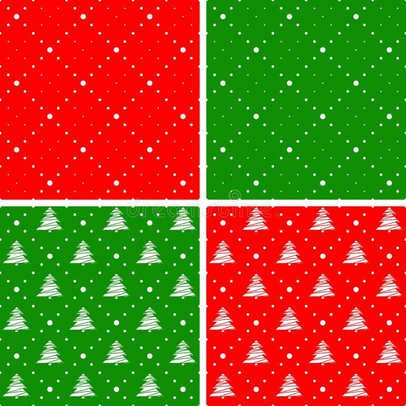 Sistema de ornamentos inconsútiles de la Navidad ilustración del vector