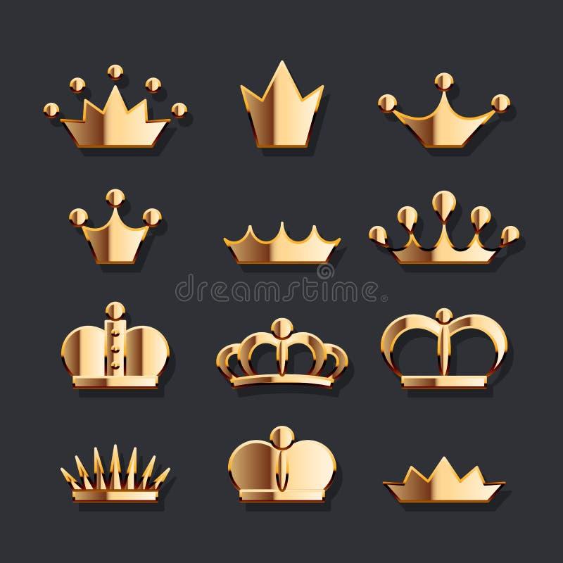 Sistema de oro de la corona libre illustration