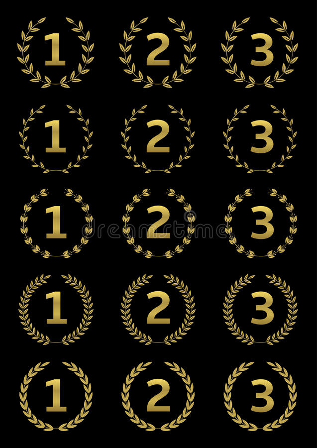 Sistema de oro del premio stock de ilustración