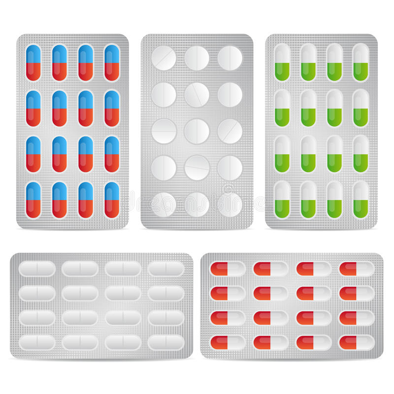 Píldoras de la ampolla libre illustration
