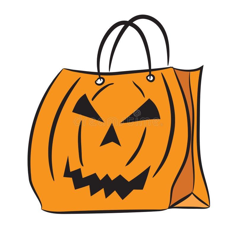 Sistema de panieres con el modelo de Halloween ilustración del vector