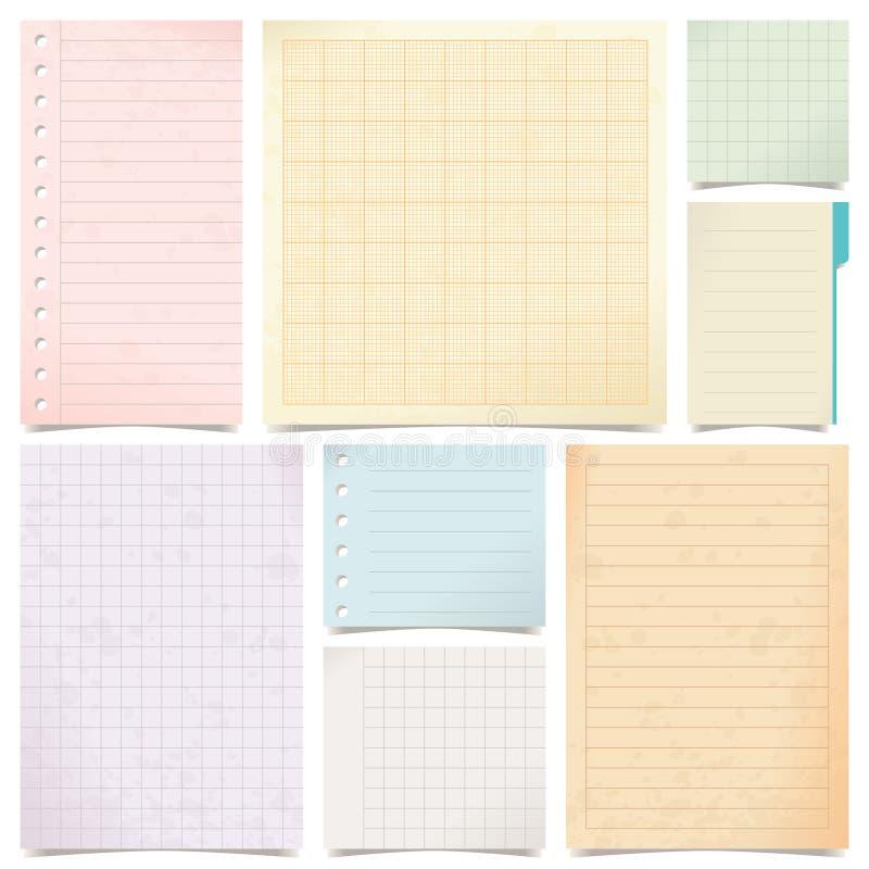 Sistema de papel stock de ilustración