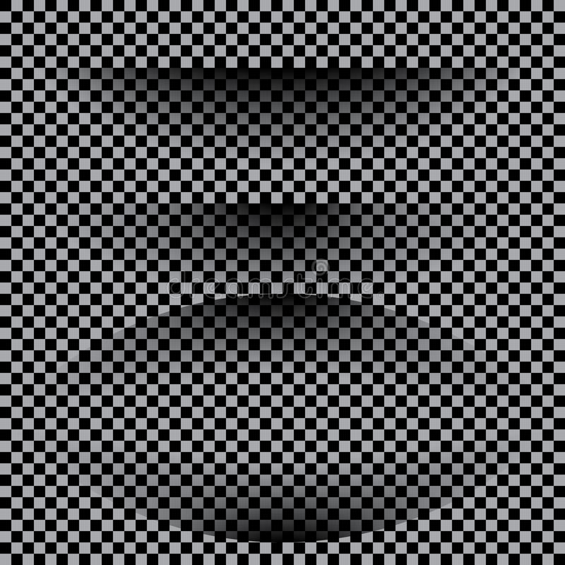 Sistema de papel realista transparente del efecto de sombra Bandera del Web stock de ilustración
