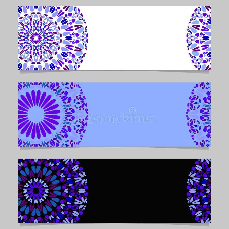 Sistema de piedra abstracto colorido del fondo de la bandera de la mandala ilustración del vector