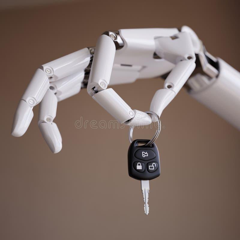 Sistema de piloto automático ou conceito inteligente da ilustração de Assist 3d do motorista ilustração royalty free