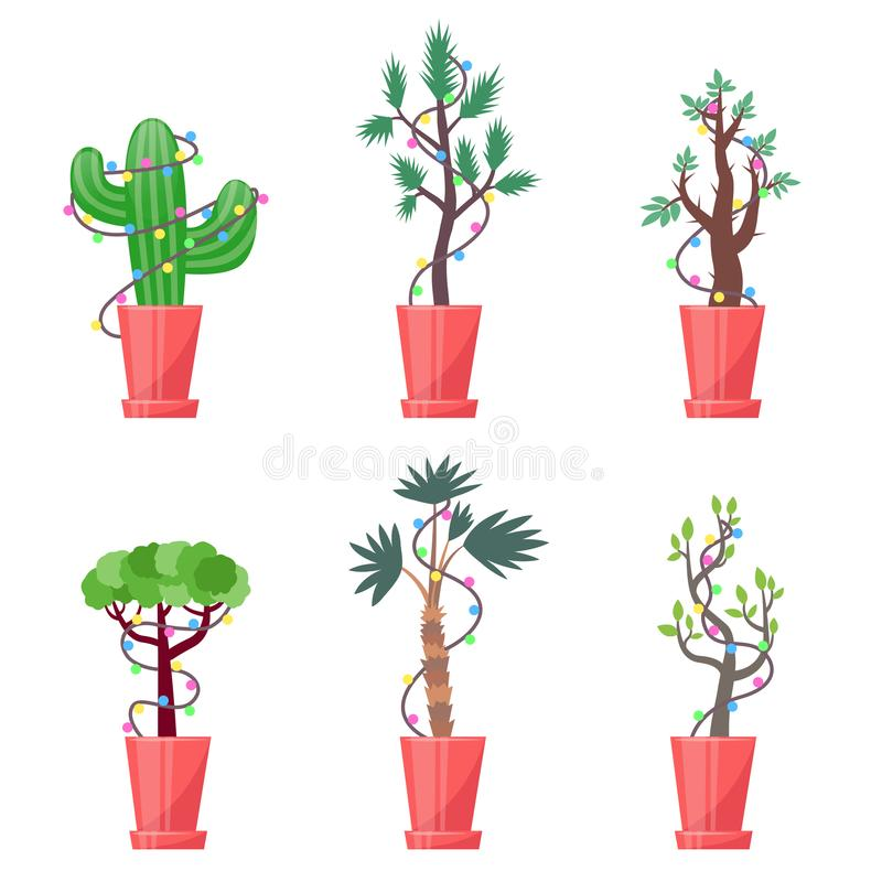Sistema de plantas del Año Nuevo libre illustration