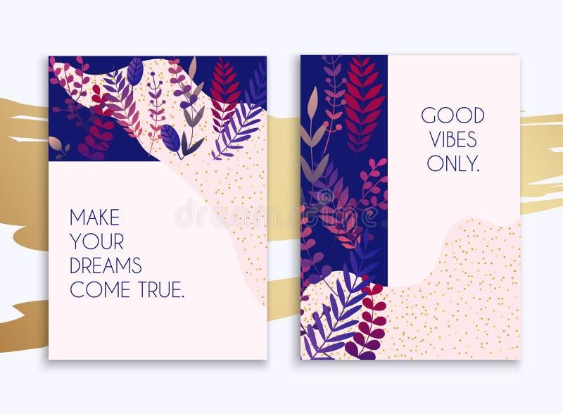 Sistema de plantillas/de banderas del diseño de la página web para el negocio Puede ser u stock de ilustración