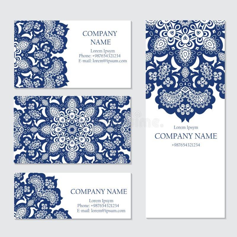 Sistema de plantillas de las tarjetas del negocio o de la invitación, libre illustration