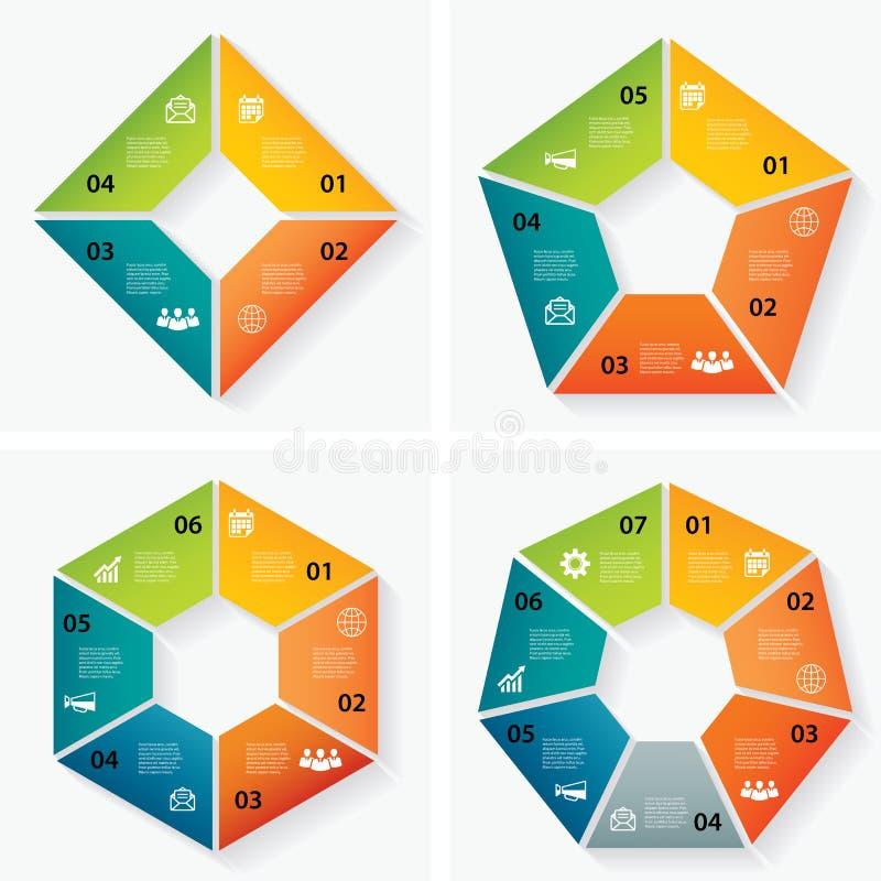 Sistema de plantillas infographic ilustración del vector