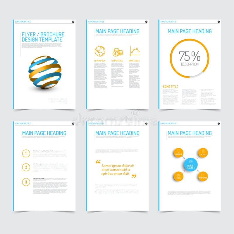 Sistema de plantillas modernas del diseño del aviador del folleto libre illustration