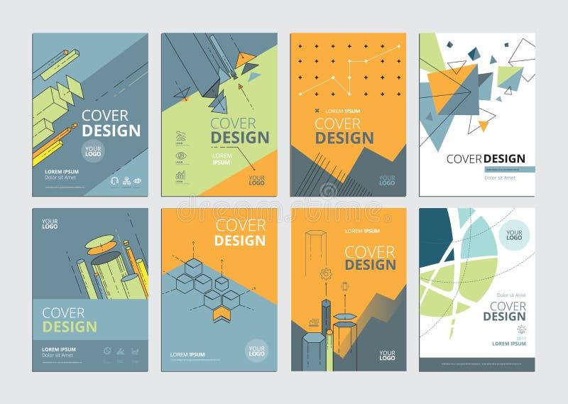 Sistema de plantillas modernas del diseño del documento comercial libre illustration