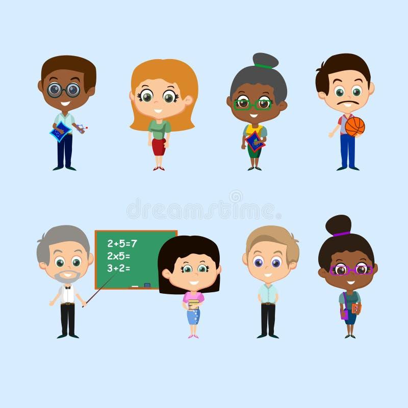 Sistema de profesores ilustración del vector