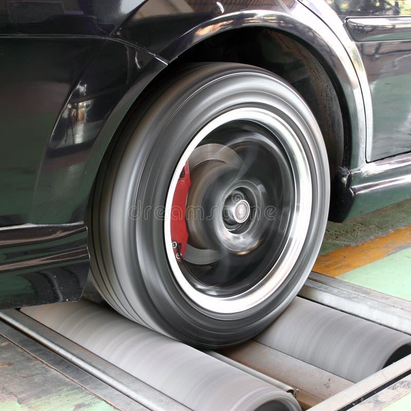 Sistema de prueba de freno del coche foto de archivo
