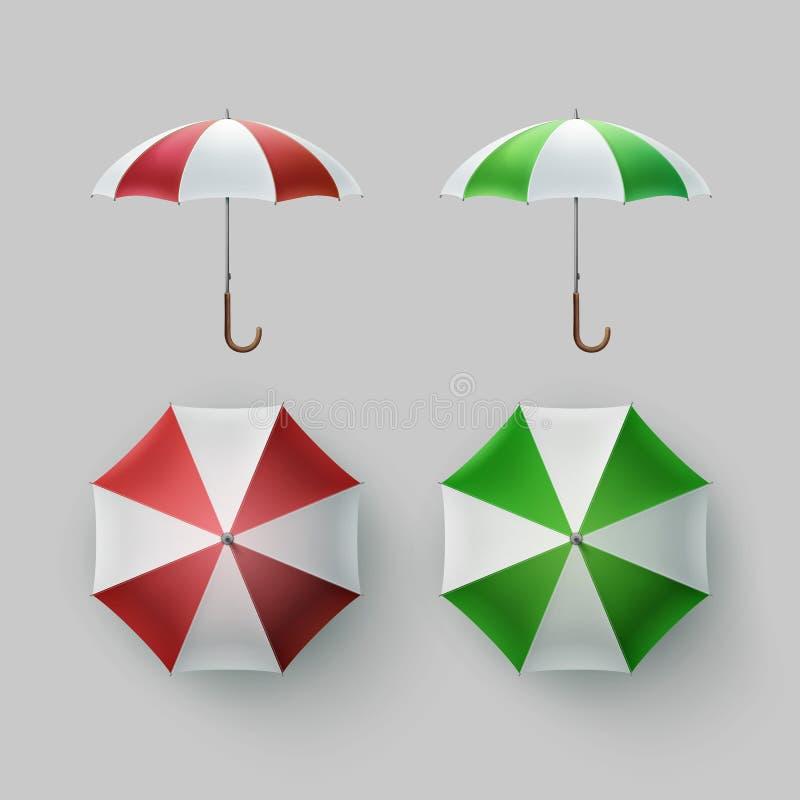 Sistema de rayado abierto alrededor del parasol del paraguas libre illustration