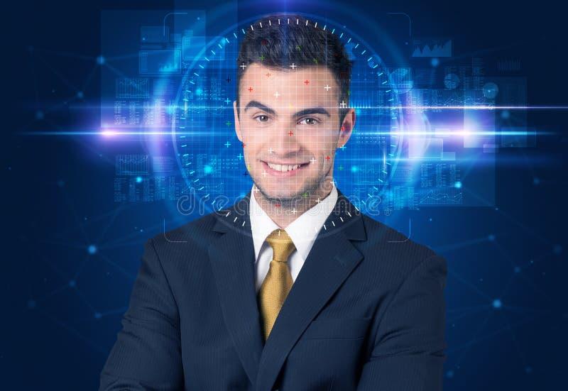 Sistema de reconhecimento facial fotos de stock royalty free