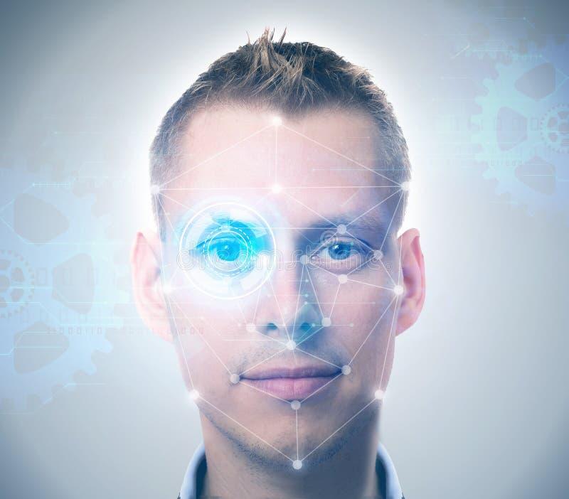 Sistema de reconocimiento de cara foto de archivo libre de regalías
