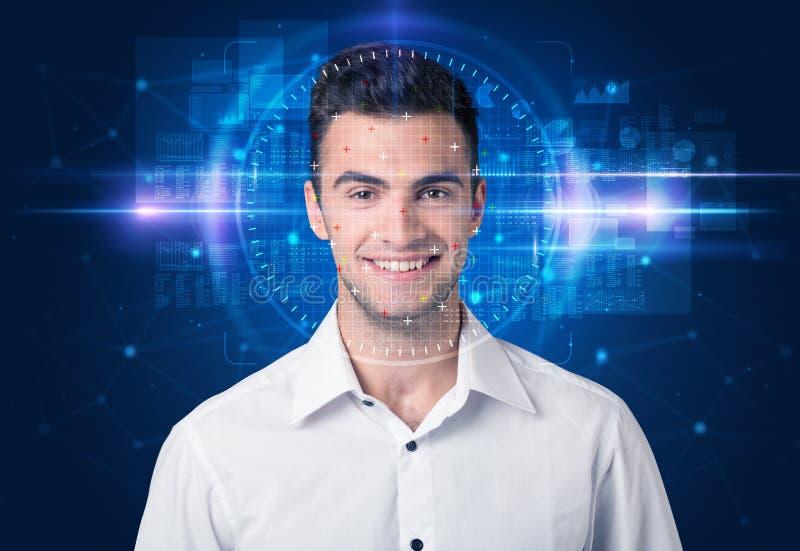 Sistema de reconocimiento facial foto de archivo