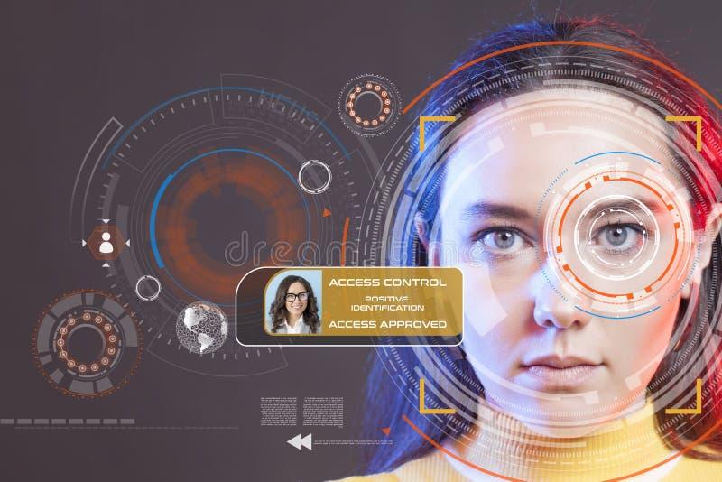 Sistema de reconocimiento facial fotos de archivo