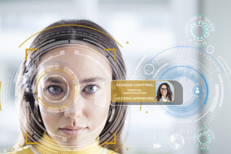 Sistema de reconocimiento facial foto de archivo libre de regalías