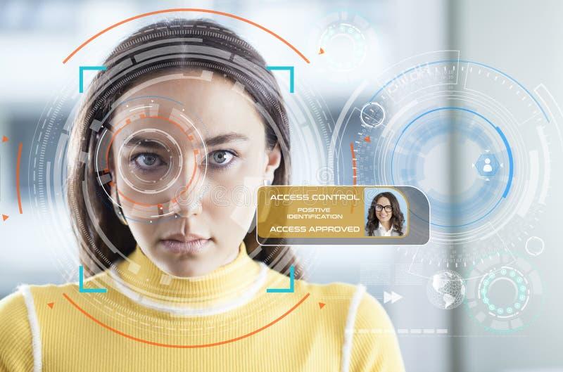 Sistema de reconocimiento facial imagen de archivo libre de regalías