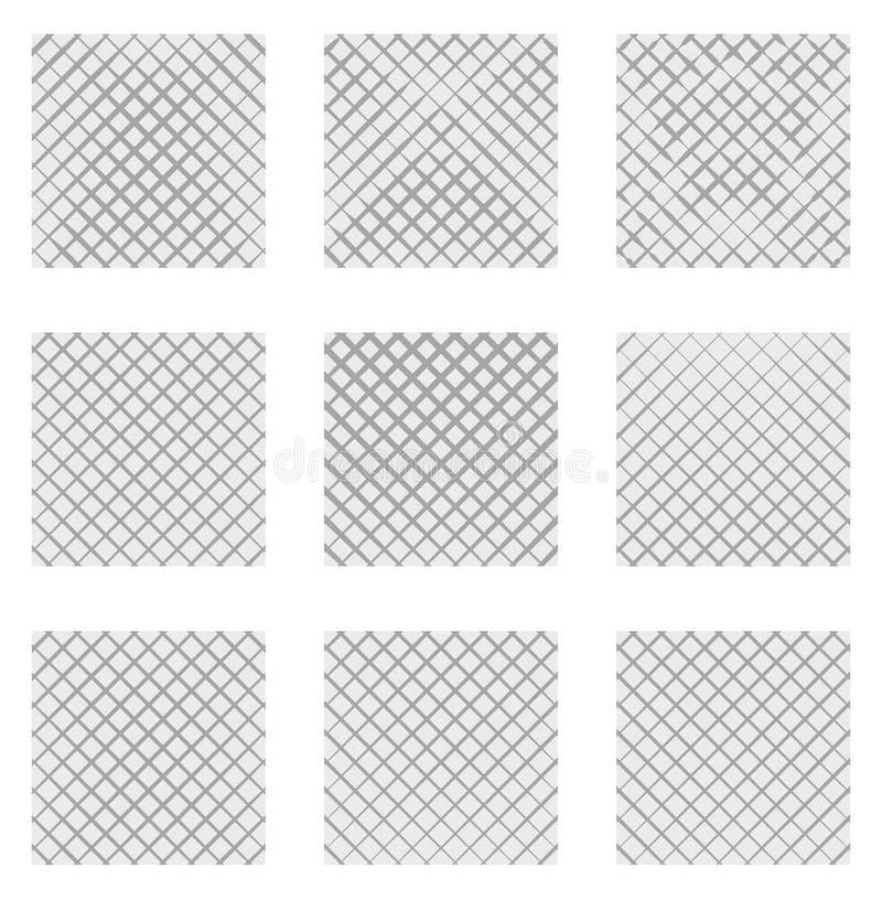 Sistema de 9 rejillas, mallas Sistema de los elementos monocromáticos, fondos, libre illustration