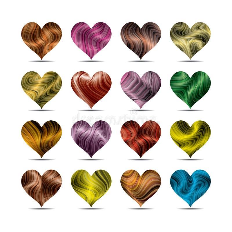 Sistema de símbolo del corazón del día de tarjeta del día de San Valentín libre illustration