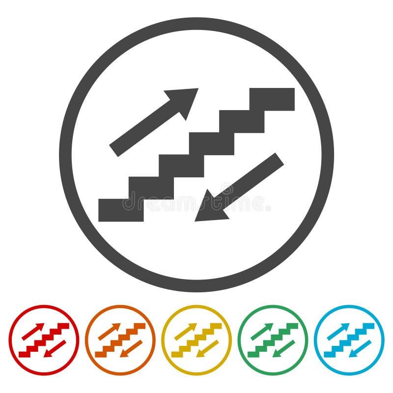 Sistema de símbolo de la escalera ilustración del vector