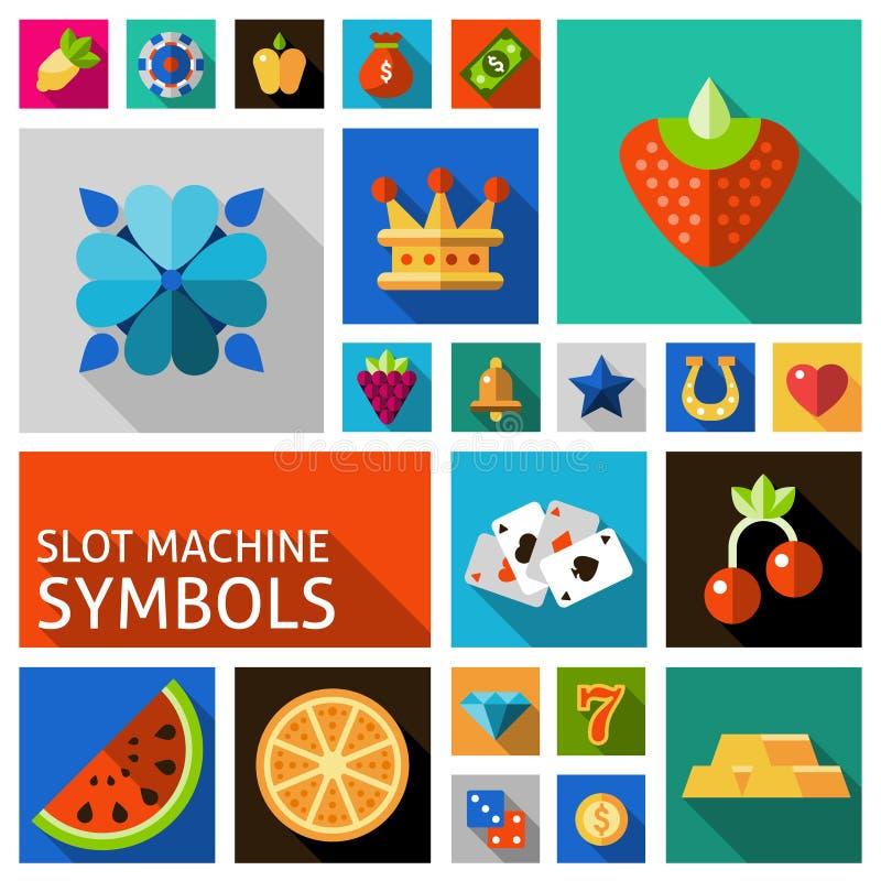 Sistema de símbolos de la máquina tragaperras libre illustration
