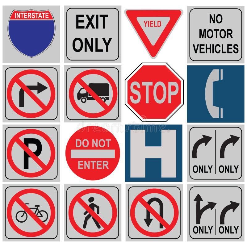 Sistema de señales de tráfico libre illustration