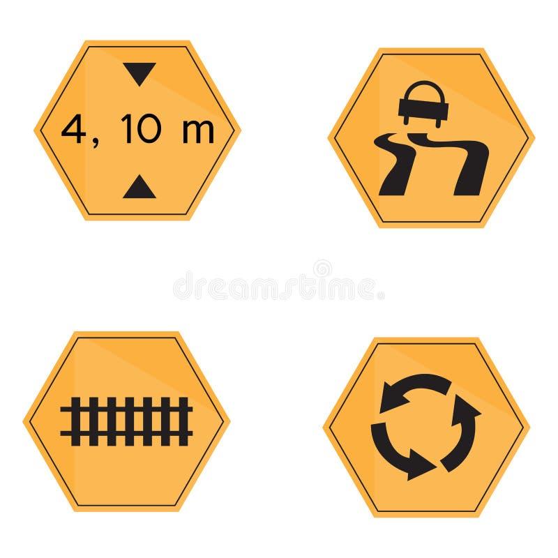 Sistema de señales del tránsito stock de ilustración