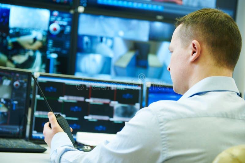 Sistema de segurança video da fiscalização da monitoração foto de stock royalty free